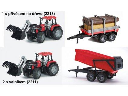 BRUDER 0954 Traktor Case CVX170+nakladač a valník