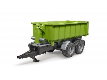 BRUDER 2035 Zelený vůz za traktor - kontejner