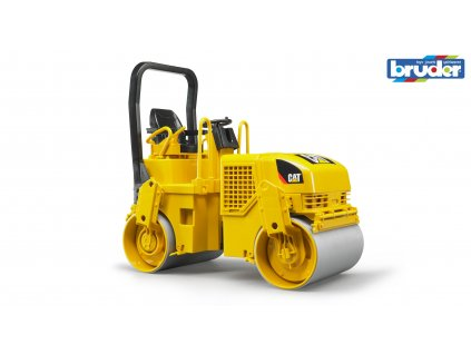 BRUDER 2433 Žlutý VÁLEC CAT vibrační
