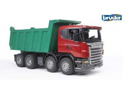BRUDER 3550 Červeno zelená SKLÁPĚČKA SCANIA R