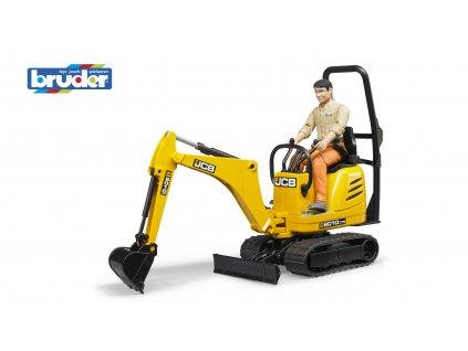 BRUDER 62002 Žlutý mikro BAGR JCB 8010 CTS s figurkou
