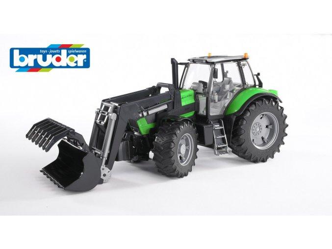 Zelený TRAKTOR DEUTZ AGROTRON X720 s nakladačem značky Bruder - BR 03081