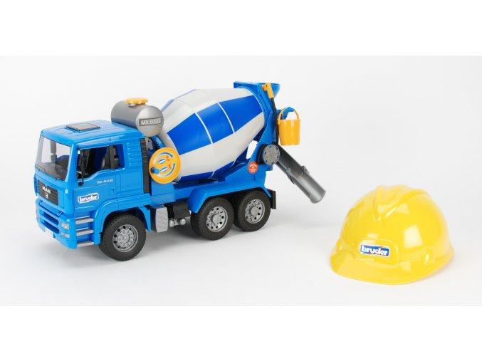 Nákl.auto MAN - domíchávač+helma