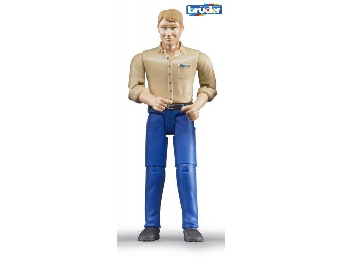 Figurka muž,modré kalhoty značky Bruder - BR 60006