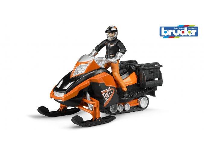 Sněžný skůtr s řidičem značky Bruder - BR 63101