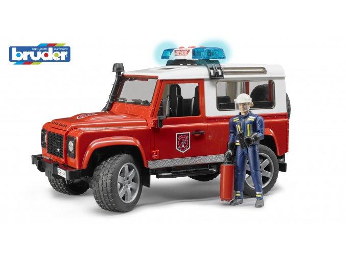 BRUDER 2596 HASIČSKÉ AUTO LAND ROVER s figurkou