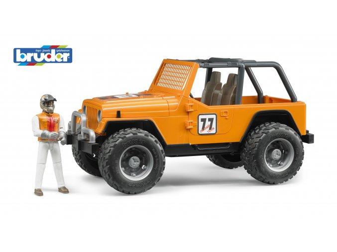 BRUDER 2542 Oranžové AUTO JEEP s řidičem