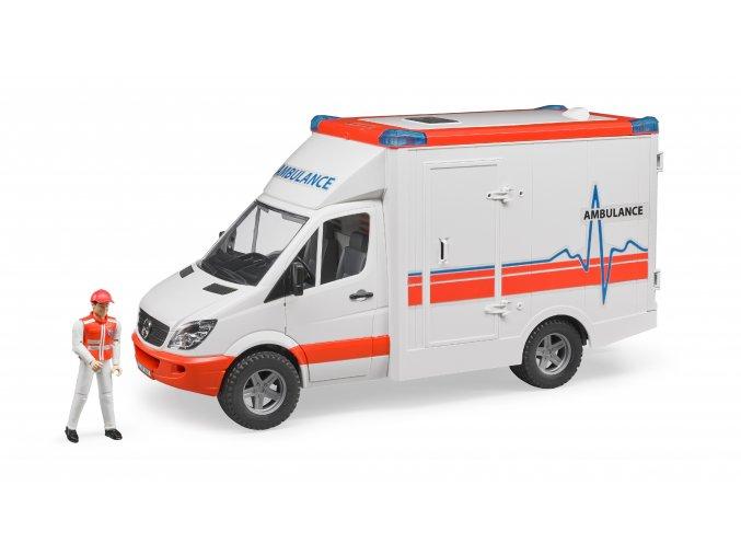 MERCEDES BENZ Sprinter- sanitka s figurkou