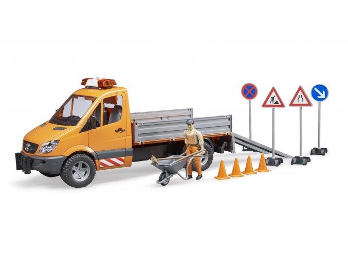 BRUDER 2537 MERCEDES BENZ Sprinter - komunál s řidičem a příslušenstvím