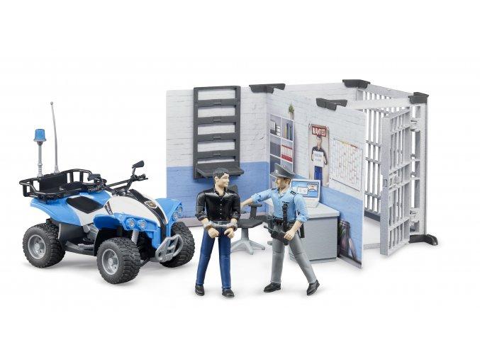 BRUDER 62730 Policejní stanice,figurky,čtyřkolka policie