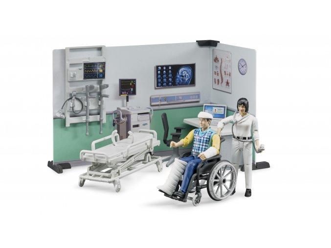Zdravotnický stanice,figurky,vozík,lůžko