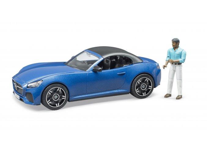 Auto Bruder s figurkou - řidičem