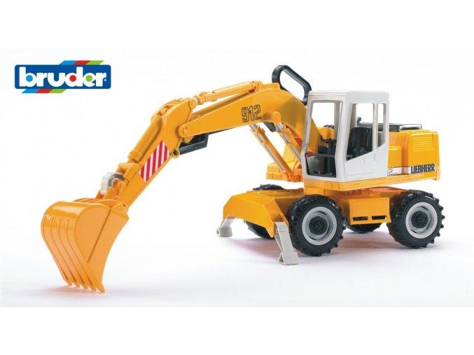 Žlutý BAGR LIEBHERR  značky Bruder - BR 02426