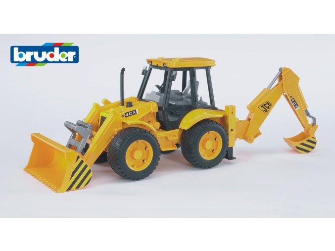Žlutý BAG4CX s čelním nakladačem značky Bruder - BR 02428R JCB