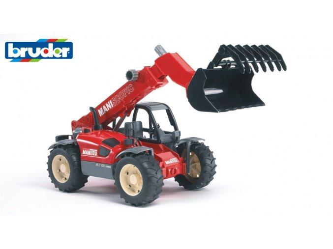 Červený  NAKLADAČ MANITOU MLT 633 značky Bruder - BR 02125