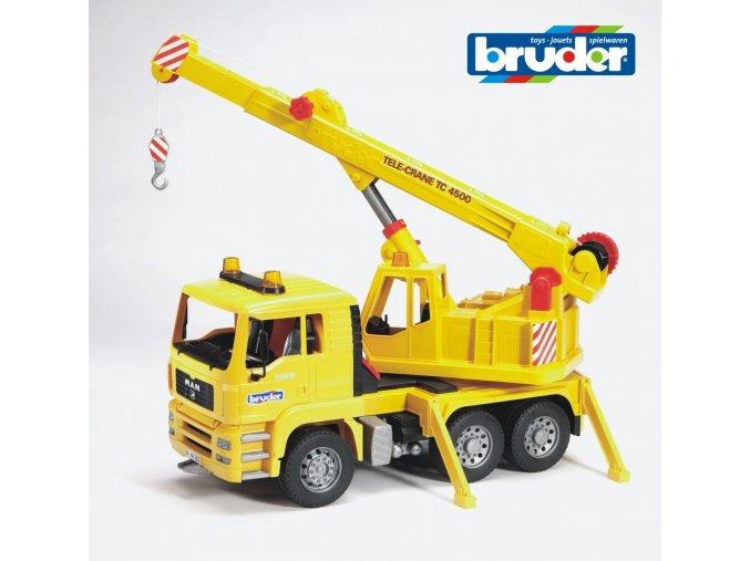 Žlutý JEŘÁB MAN TGA značky Bruder - BR 02754