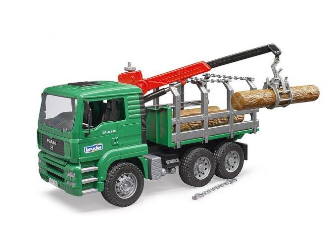 Zelené AUTO MAN TGA přeprava dřeva značky Bruder - BR 02769