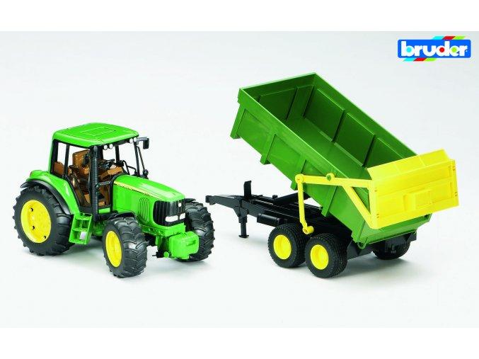 Zelený TRAKTOR JOHN DEERE 6920 s valníkem  značky Bruder - BR 02058