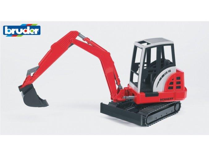 Červeno bílý MINIBAGR SCHAEFF HR16 značky Bruder - BR 02432
