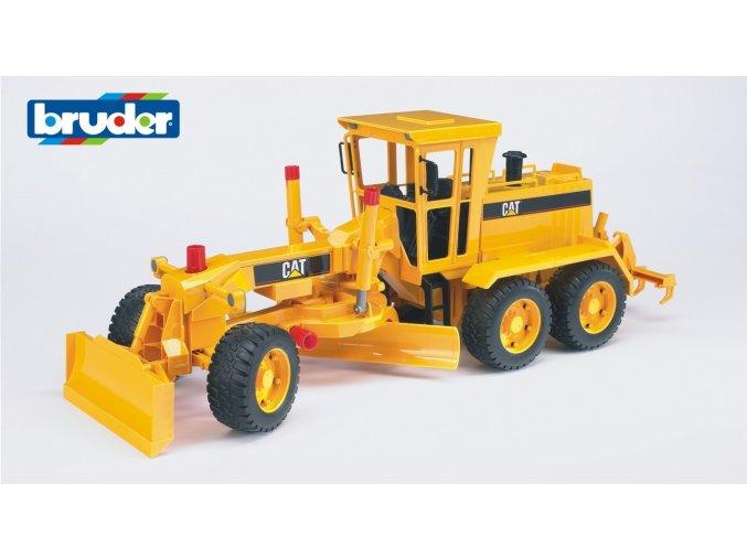 Žlutý SHRNOVAČ CAT silniční značky Bruder - BR 02436