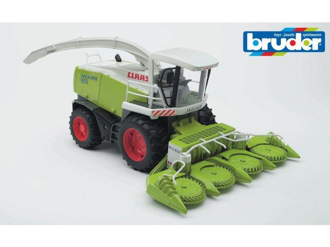 BRUDER 2131 Zelený KOMBAJN CLAAS JAGUAR 900 na kukuřici