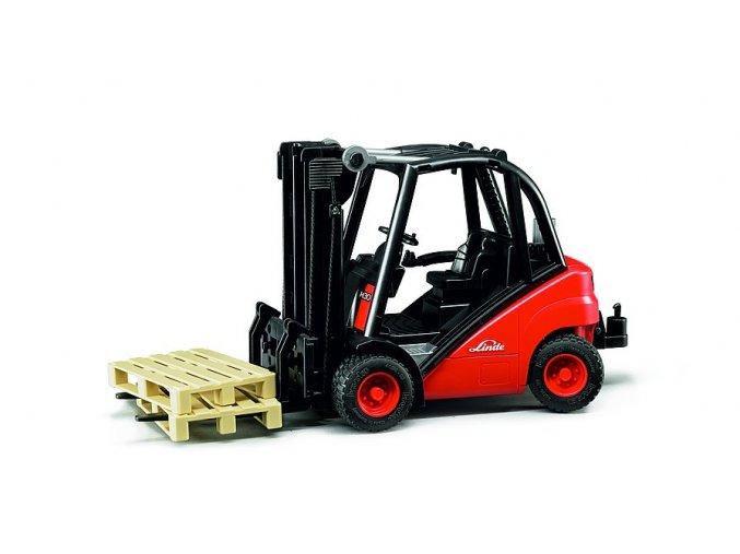 Vysokozdvižný VOZÍK LINDE H30D značky Bruder - BR 02511