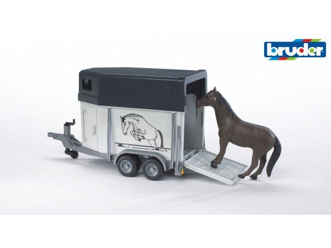 Přepravník na koně s jedním koněm značky Bruder - BR 02028