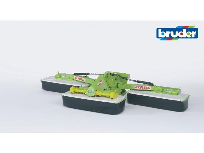 Zeleno bílá ŽACÍ LIŠTA CLAAS Disco 8550C značky Bruder - BR 02218