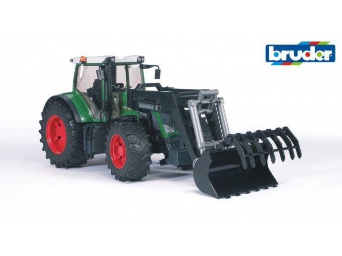 Zelený TRAKTOR FENDT 936 VARIO s nakladačem značky Bruder - BR 03041