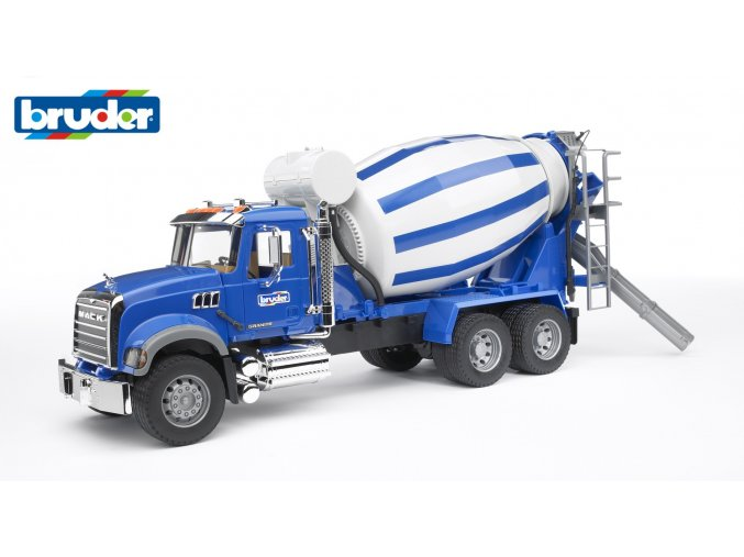 Modro bílý DOMÍCHÁVAČ MACK Granite značky Bruder - BR 02814