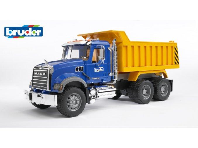 Modro žlutá SKLÁPĚČKA MACK Granite značky Bruder - BR 02815