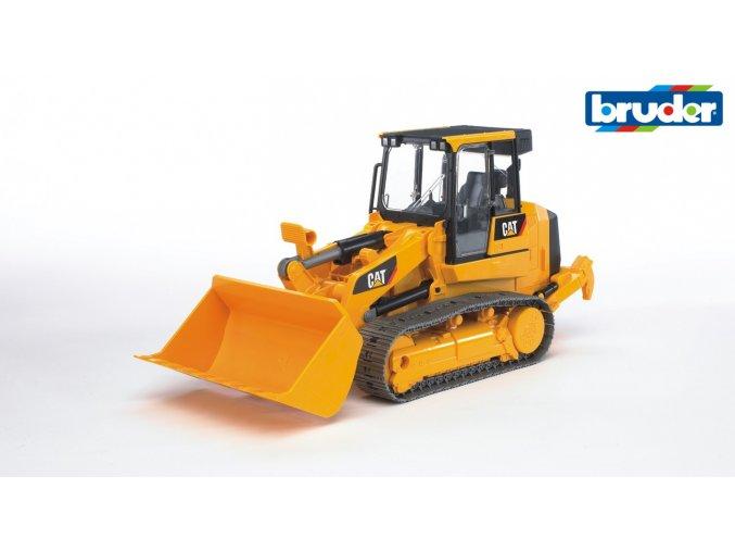 Žlutý NAKLADAČ CAT pásový značky Bruder - BR 02447