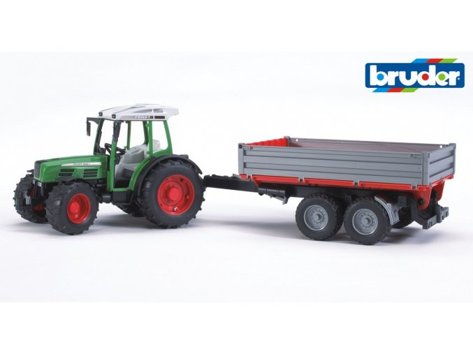Zelený TRAKTOR FENDT 209 S s valníkem značky Bruder - BR 2104