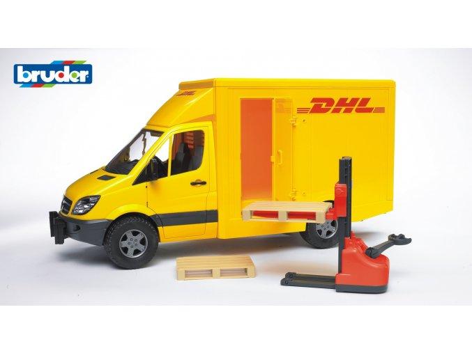 BRUDER 2534 Žluté AUTO MERCEDES BENZ Sprinter DHL