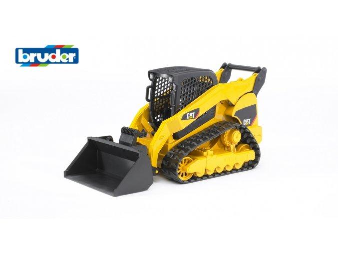 Žlutý NAKLADAČ CAT pásový značky Bruder - BR 02136