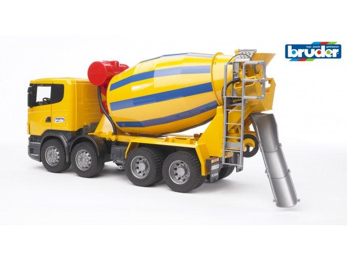 Žlutá MÍCHAČKA na beton SCANIA R značky Bruder - BR 03554
