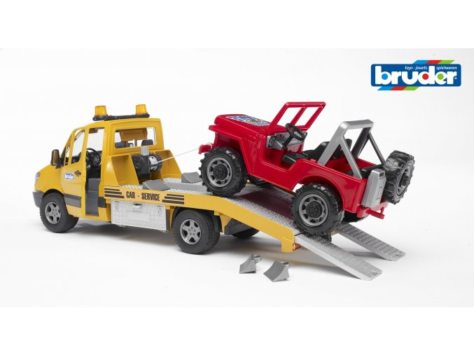 Žluté AUTO MB Sprinter s majákem značky Bruder - BR 2535