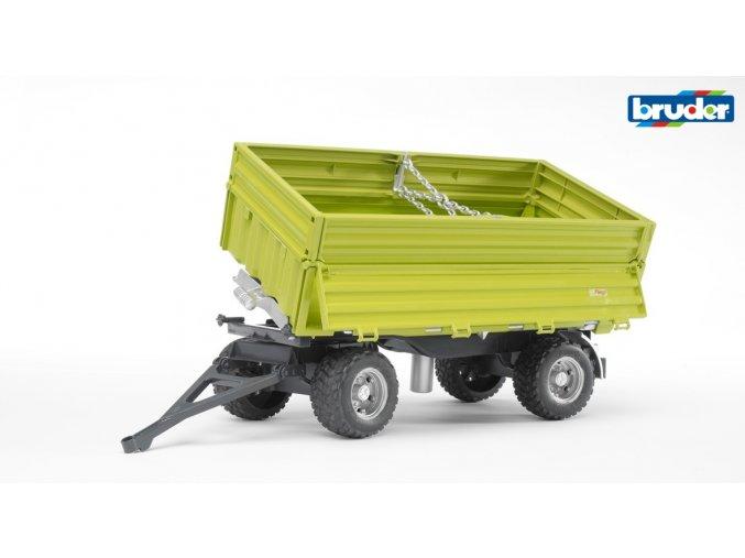 Sklápěcí vůz FLIEGL-zelený,třístranný značky Bruder - BR 02203