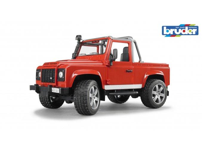 Červené AUTO LAND ROVER DEFENDER Pick Up značky Bruder - BR 02591