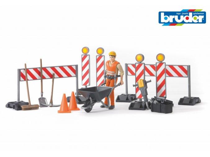 Stavební práce s figurkou /set/ značky Bruder - BR 62000