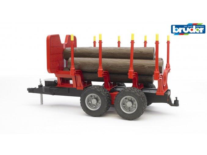 Přívěs na dřevo s kladami značky Bruder - BR 02251