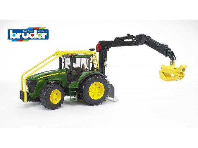 Zelený TRAKTOR JOHN DEERE 7930 lesní traktor značky Bruder - BR 03053