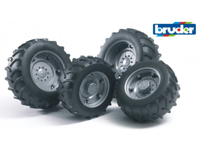 Stříbrná dvojitá kola pro serii 02.. značky Bruder - BR 02316