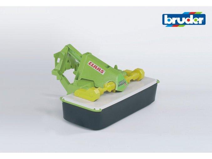 BRUDER 2324 Zeleno bílá ŽACÍ LIŠTA CLAAS Disco 3050FC