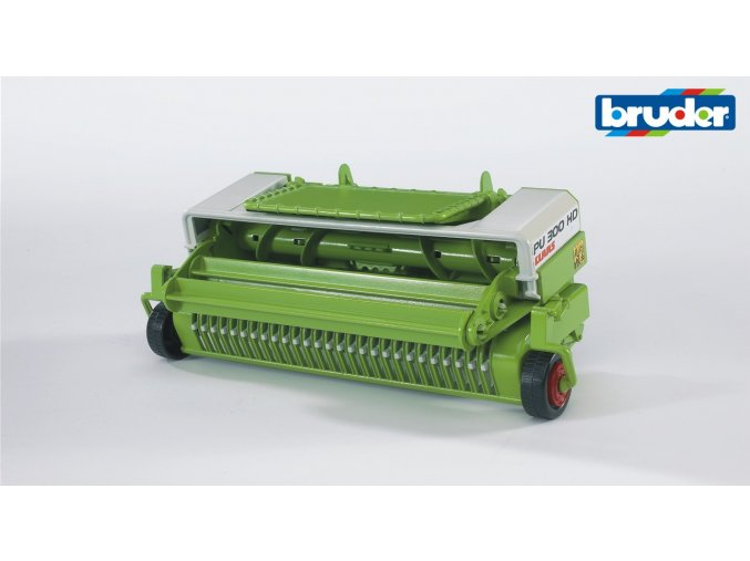 BRUDER 2325 Zeleno bílá SBĚRACÍ LIŠTA CLAAS Pick UP 300HD