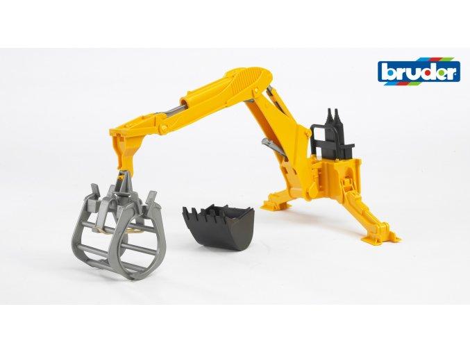 Závěsný bagr-nakladač za traktor značky Bruder - BR 02338