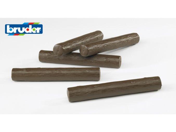 Náhradní klády - 5ks /tmavé / značky Bruder - BR 02343