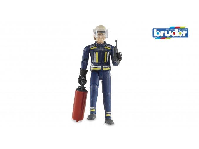 Figurka hasič v obleku s příslušenstvím značky Bruder - BR 60100