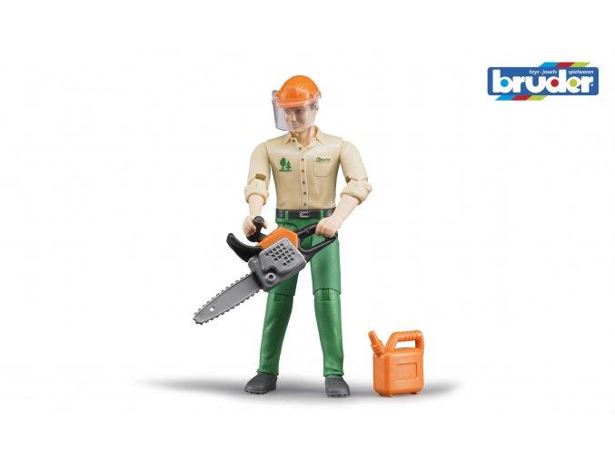 Figurka lesní dělník s příslušenstvím značky Bruder - BR 60030