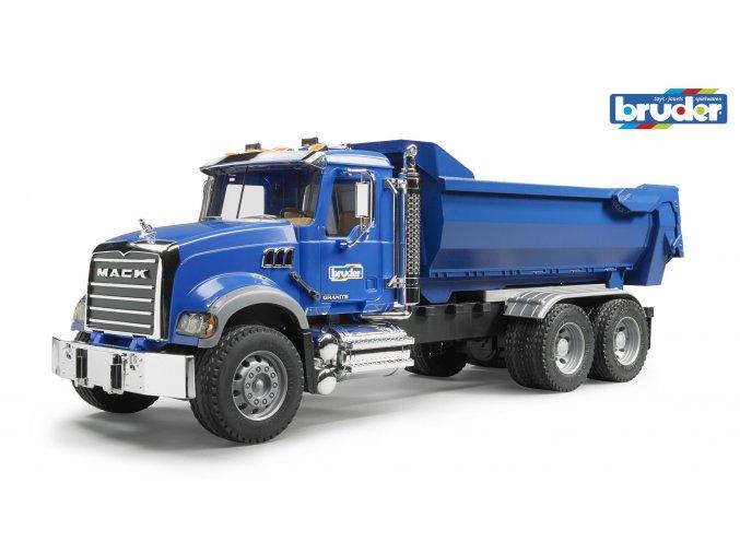 Modrá SKLÁPĚČKA MACK Granite značky Bruder - BR 02823